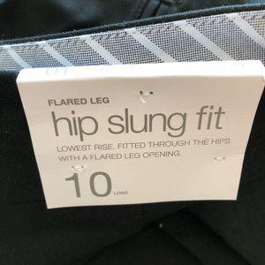Gap Flared Leg Hip Slung Fit Black Pants NWT